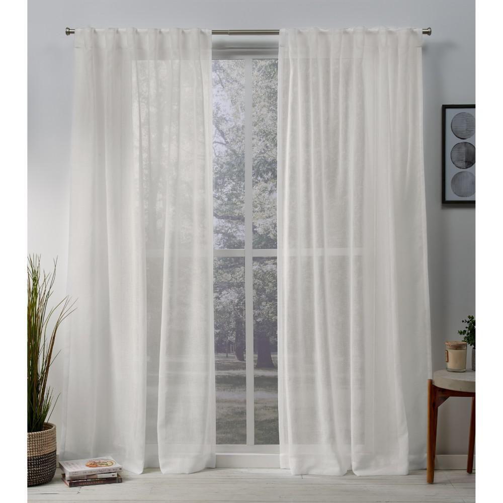Rivau Solid Sheer Tab Top Single Curtain Panel Curtains Living Room Curtain Decor Living Room Decor Curtains