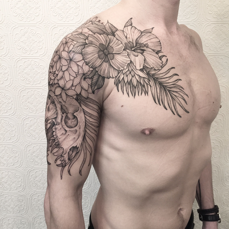 909a6cd0 85d3 499c B1a7 9c2bd91db7e4 Jpg Floral Tattoo Shoulder