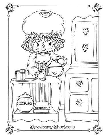 Sleepover Colouring Book | Vintage Shortcake Coloring Books ...