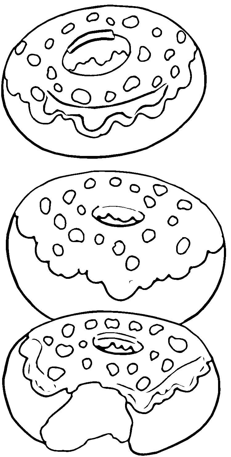 Tasty Donut Coloring Page Jpg 750 1 480 Pixels Food Coloring Pages Donut Coloring Page Free Printable Coloring Pages