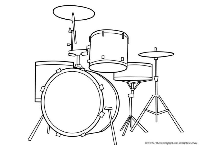 Coloring Page Drum Kit Dl5947 Jpg 875 620 Pixels Musical