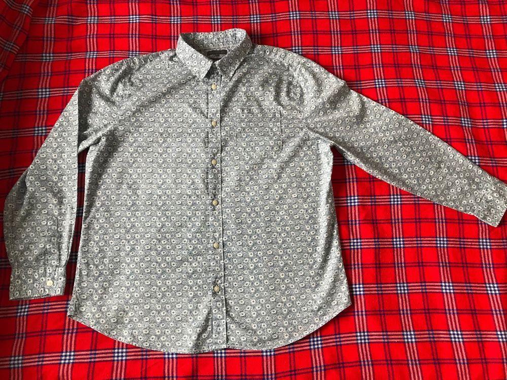 325e092d3d Men s XL Tailored Fit Blue Floral John Rocha Shirt  JohnRocha  CasualShirts