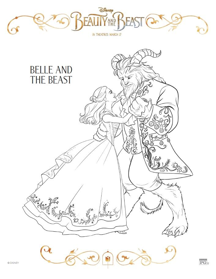 Beauty And The Beast Coloring Pages Free Printables Disney