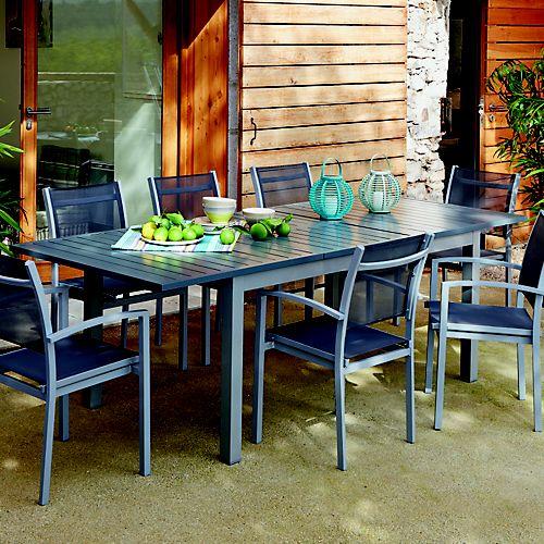 Salon De Jardin Table Extensible. Great Table Jardin Personnes ...