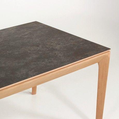 Table de salle à manger extensible en céramique buzz