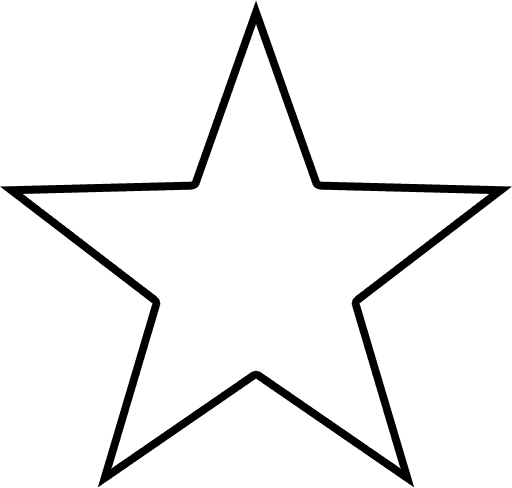 Texas Star Outline