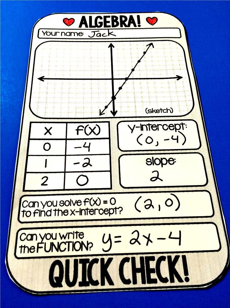 Algebra  WarmUp Template  Algebra Template And Math
