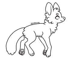 Free Ms Paint Friendly Fox Lineart By Jemanite Art Base Drawing Base Furry Drawing
