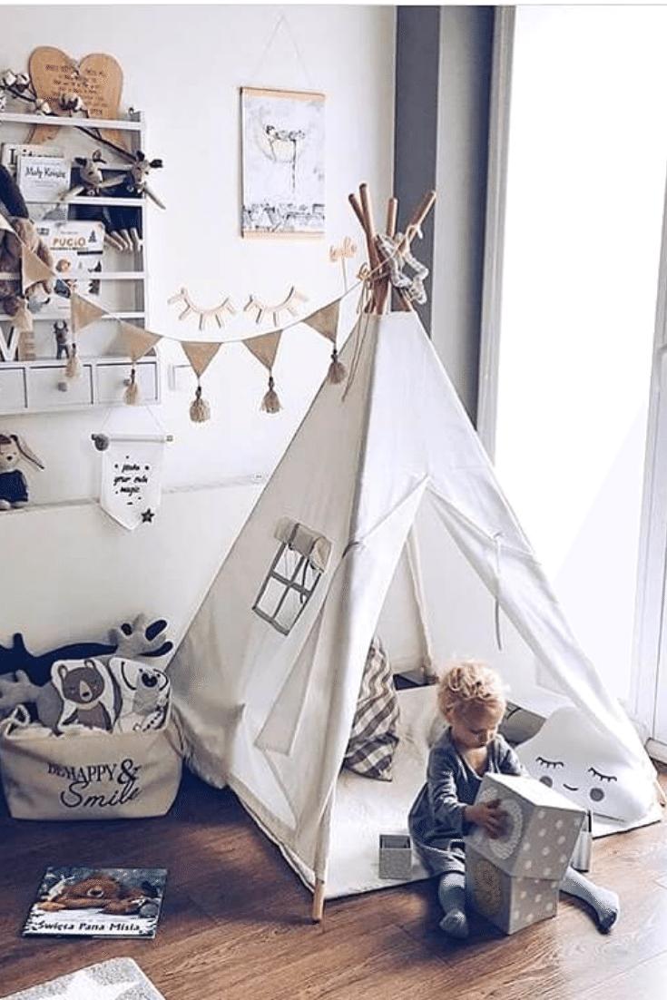 Namiot Dla Dzieci Tipi Teepee Kids Tent 459 Zl Tipi Toddler Bed Decor