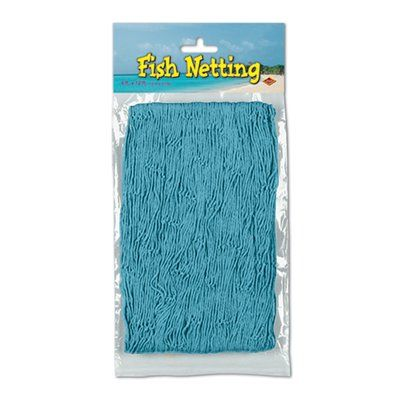 The Beistle Company Fish Netting Wall Decor Color: Turquoise