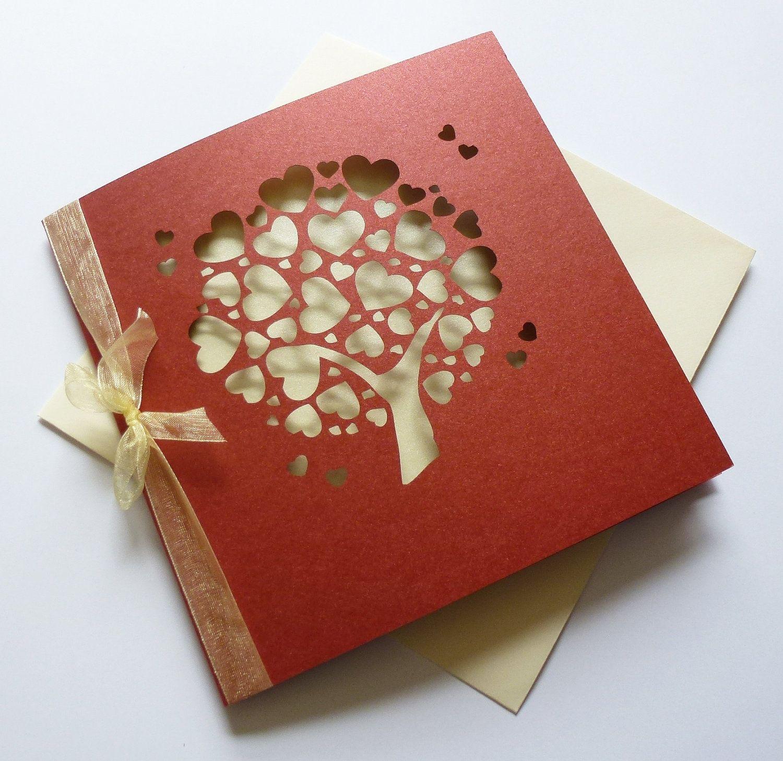 pretty love heart tree invitations | graduation announcements ...