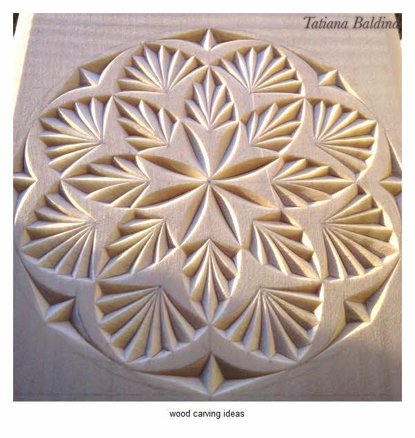 Wood carving pattern for beginner sample chip