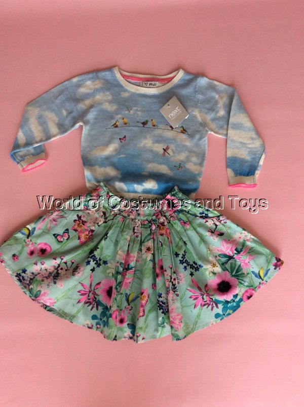 Age 3-4 Years Kids' Clothes, Shoes & Accs. Clothes, Shoes & Accessories Girls Next Floral Jumper Skirt Dress