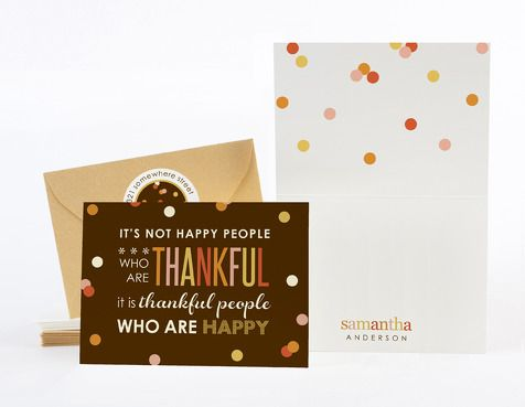folded notes -thankful quote