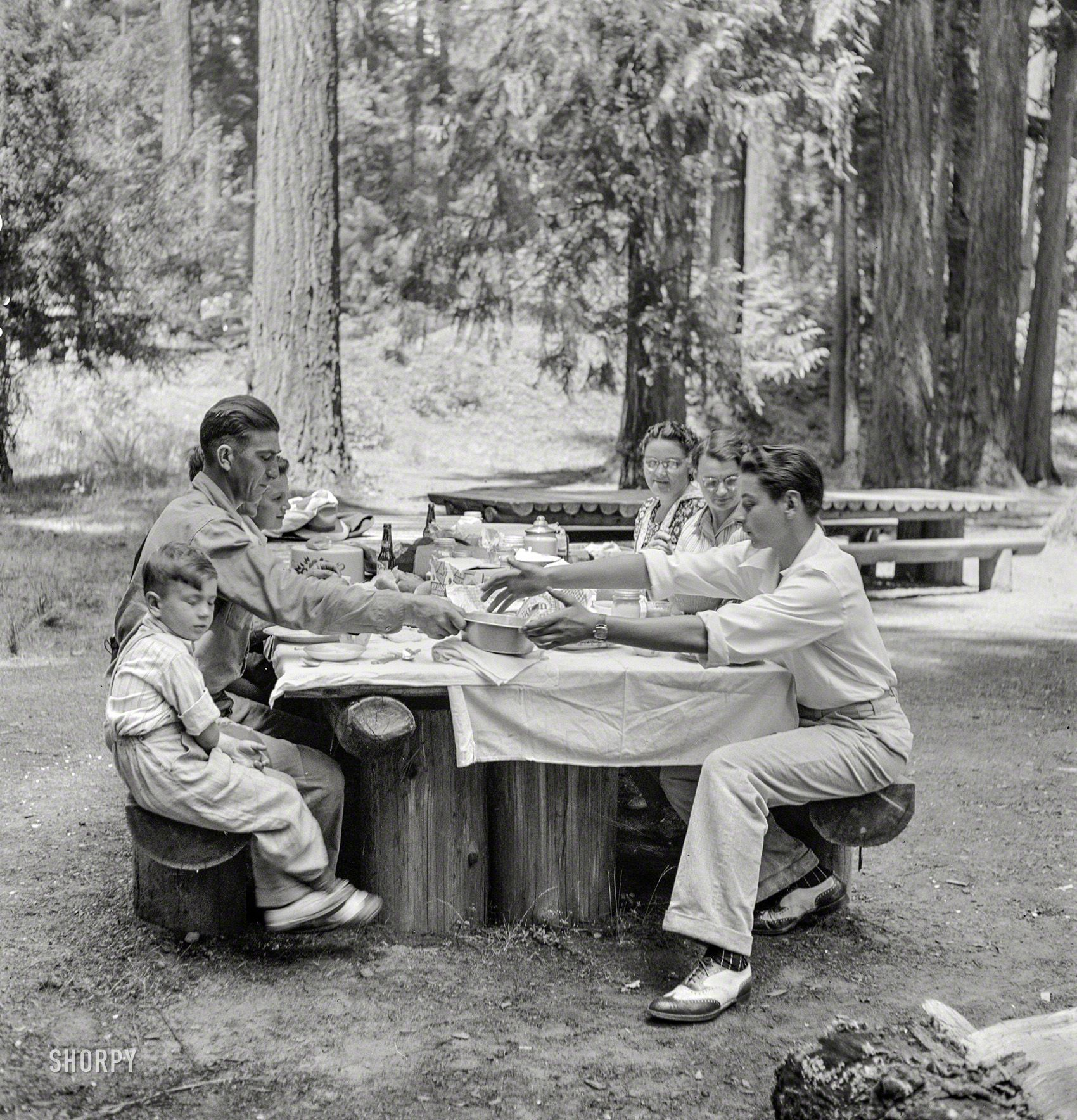 Vintage Park: Picnic In The Park: 1942 High-resolution Photo