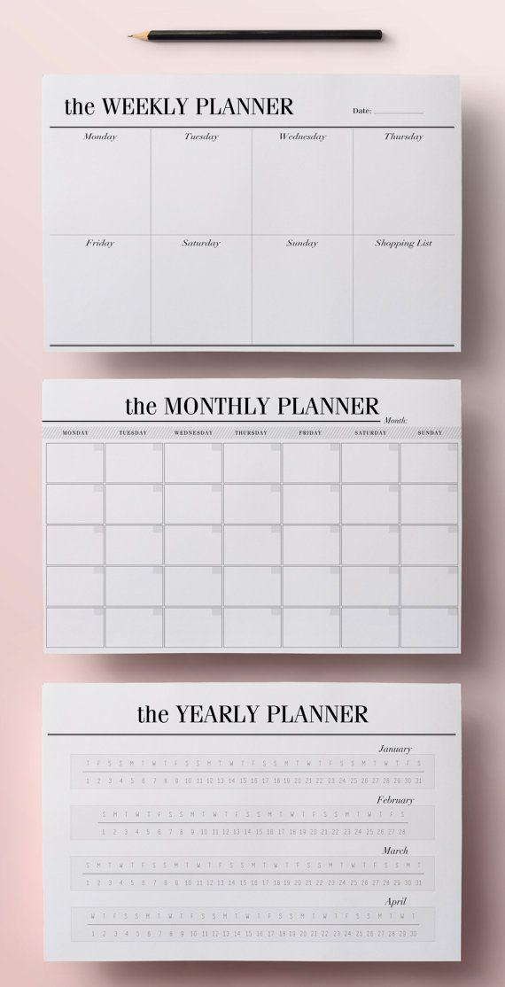Half-Size Planner Pages Half-Letter by CrossbowPrintables on Etsy - calendar daily planner