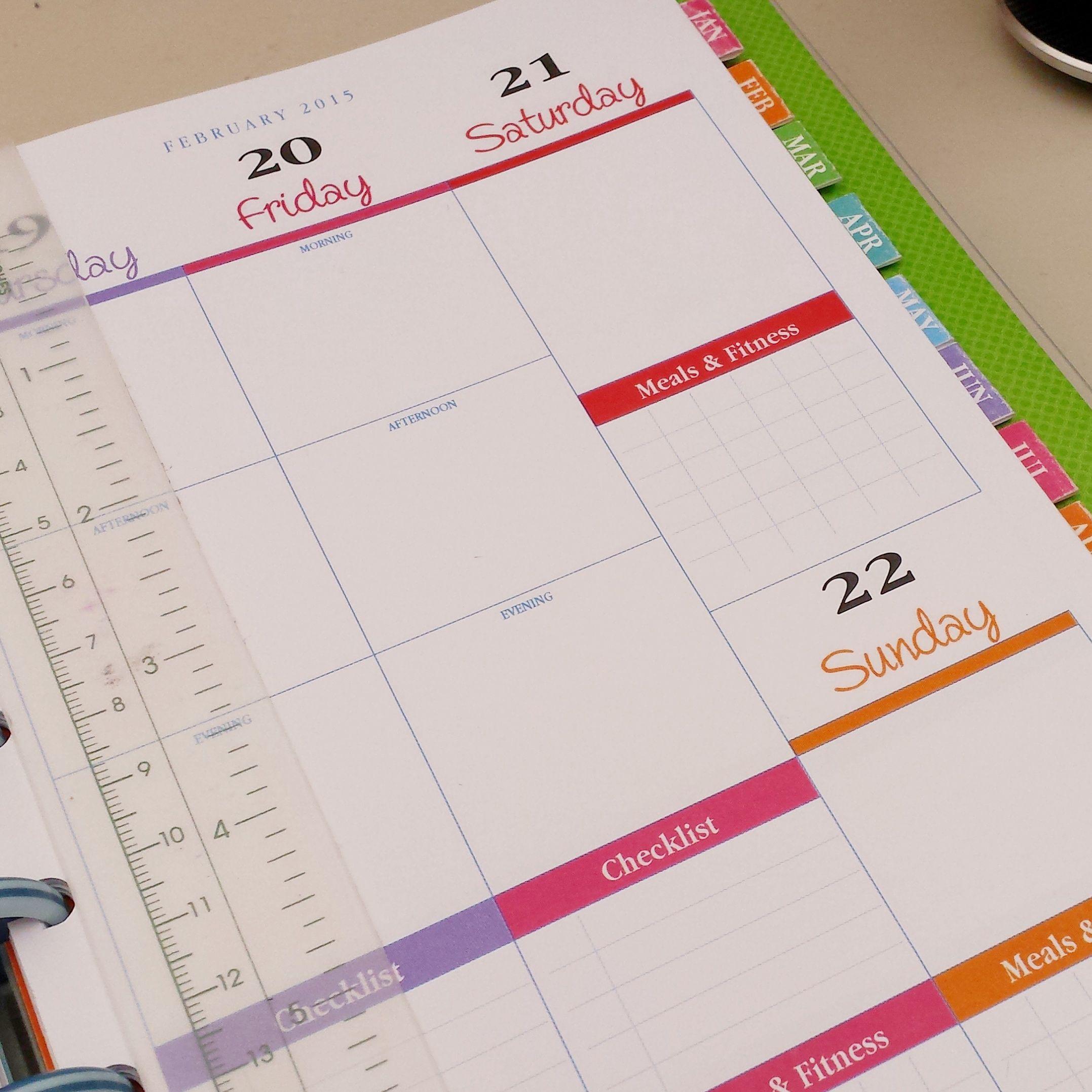 weekly hourly planner printable
