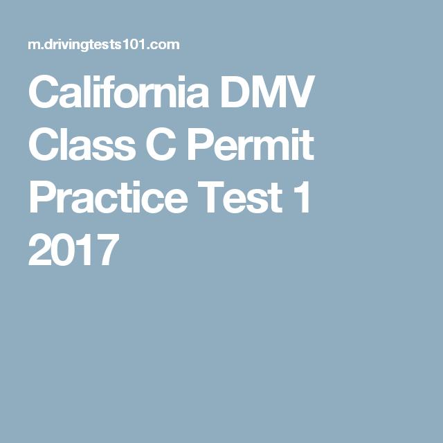 California Dmv Class C Permit Practice Test 1 2017 Drivers