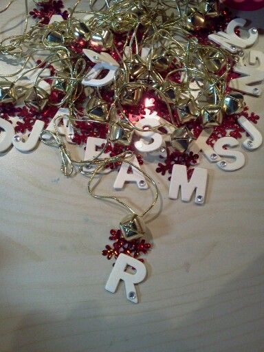 Large Christmas Bells Decorations Personalized Ornaments For My Kids' Classmateswood Chip Letters