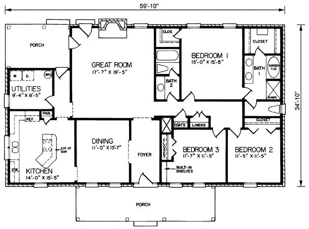 House Plans Home Plans And Floor Plans From Ultimate Plans Rectangular House Floor Plans House Plans House Plans Country Style House Plans Simple House Plans