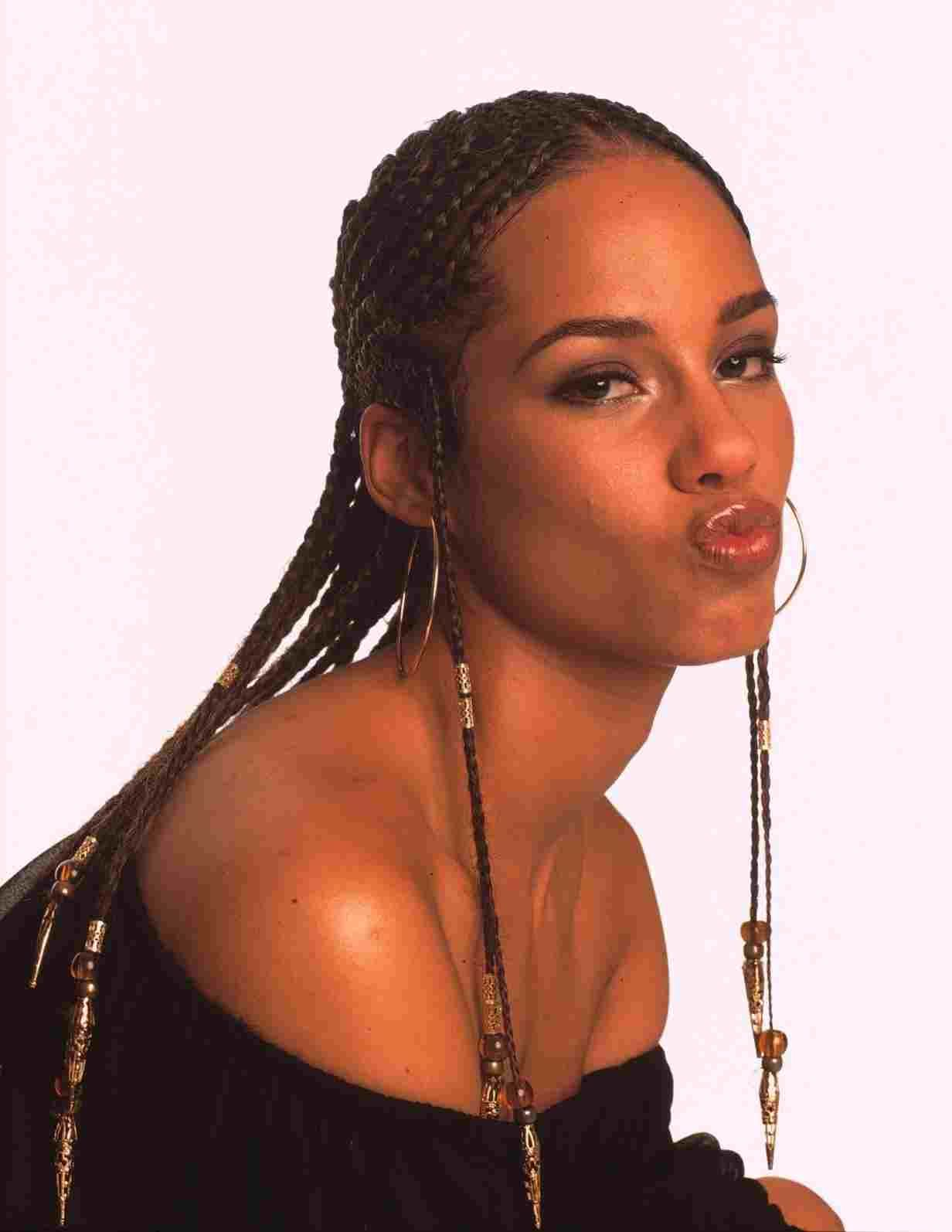 90s Hairstyle Hip Hop Alicia Keys Hairstyles Alicia Keys Braids Cornrows Braids For Black Women