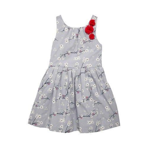967c972978580 Robe chasuble imprimé fleur de cerisier Diline