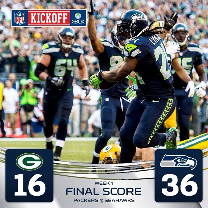 Seattle Seahawks 2014 football season. Game 1 Woo Hoo