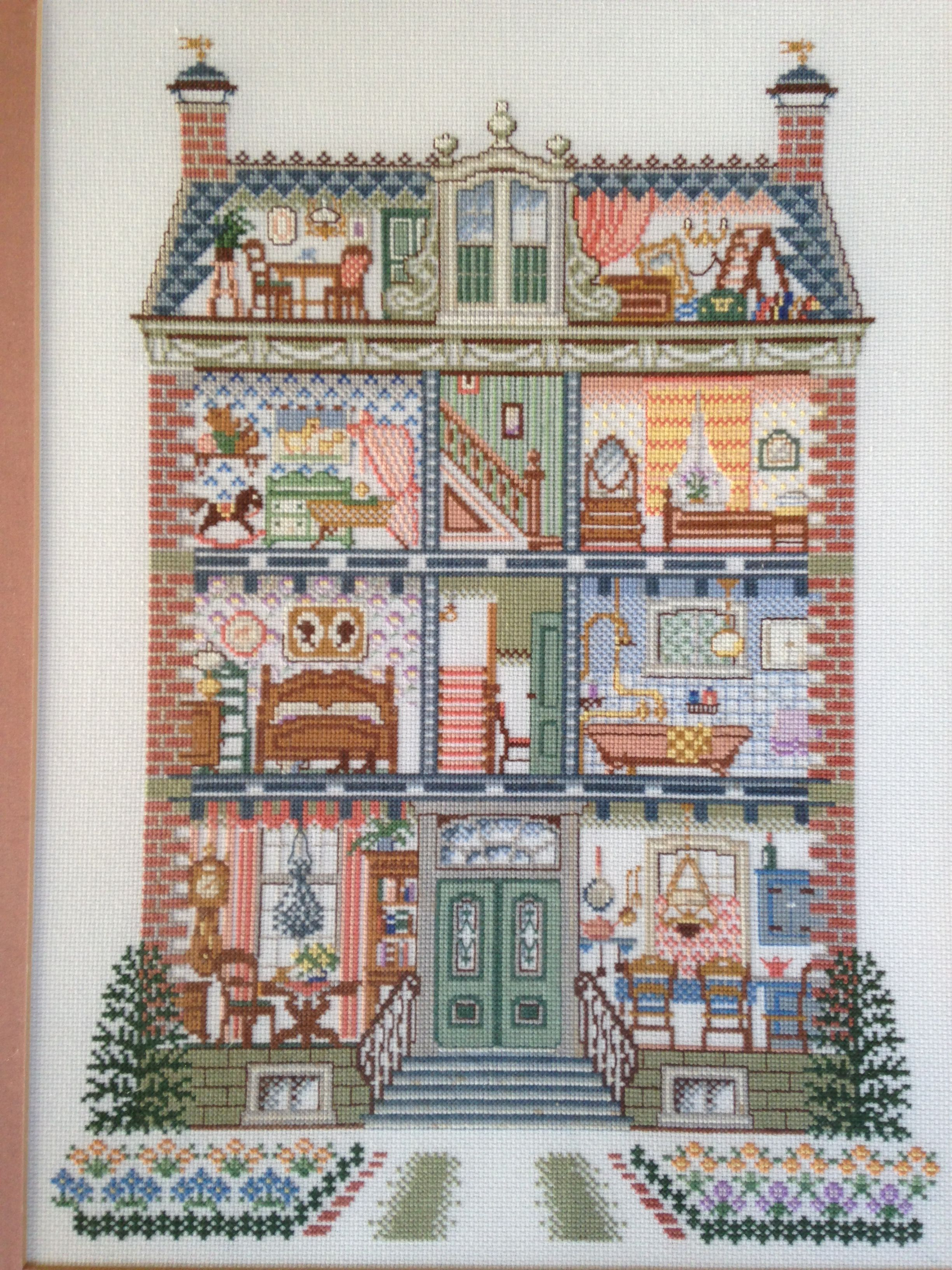 Cross stiched Dollhouse