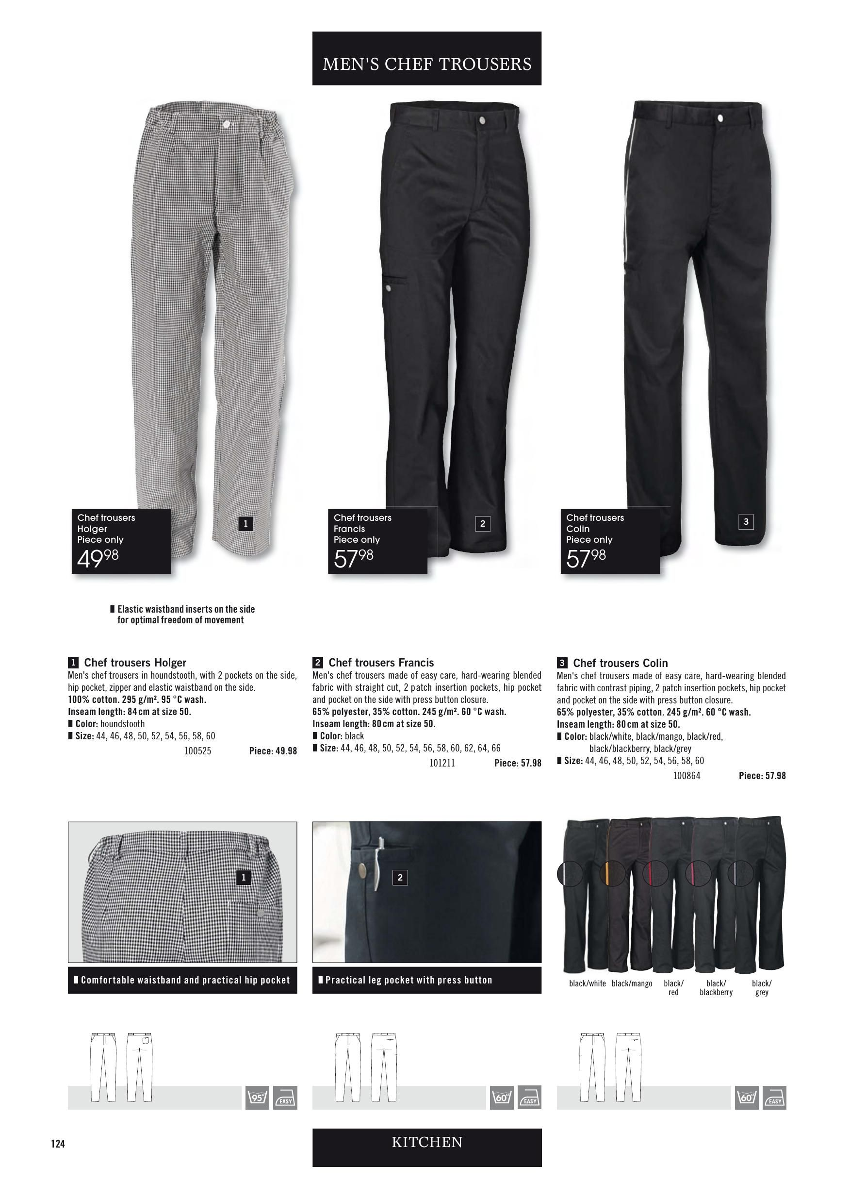 62d072a1678621 Cooks Pants | Jobeline.ca 2019 Print Catalog Chef Jackets & Workwear ...