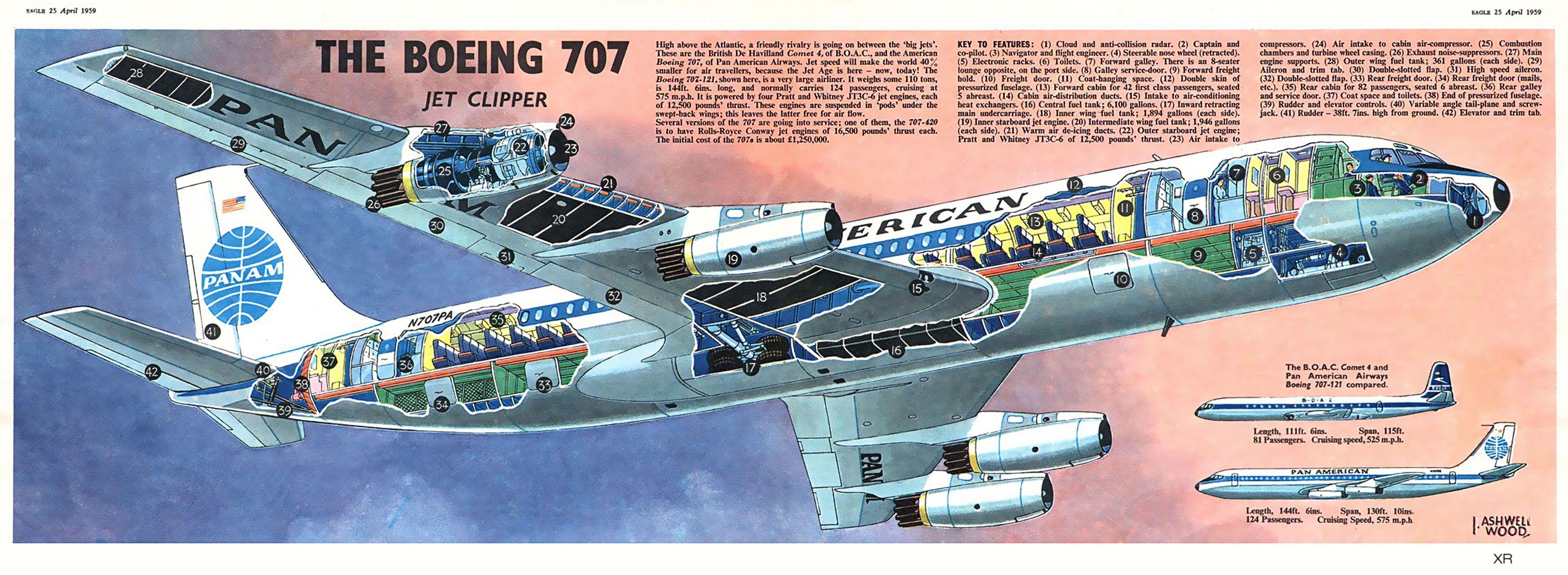 all sizes 1959 boeing 707 flickr photo sharing flying rh pinterest com