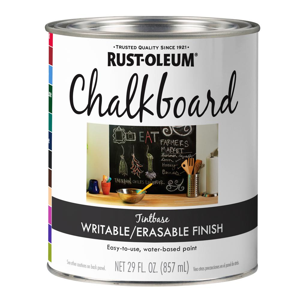 Rust Oleum Specialty 29 Oz Tintable Chalkboard Paint 342596 The Home Depot In 2020 Black Chalkboard Paint Chalkboard Paint Concrete Stain Design