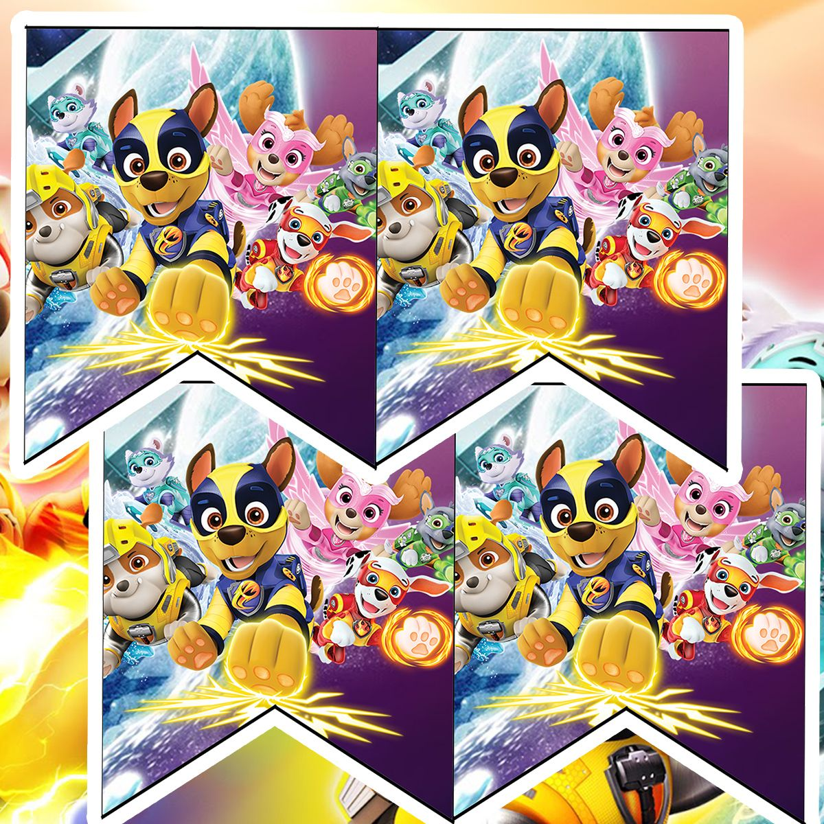 Paw Patrol Mighty Pups Birthday Party Printable Files Paw Patrol Party Printables Paw Patrol Party Paw Patrol Birthday Girl