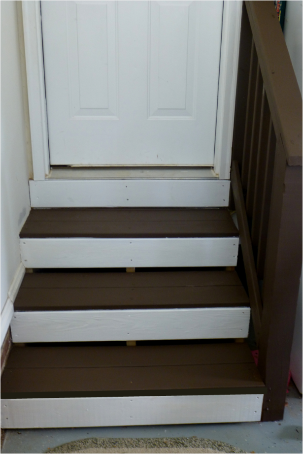 Garage Steps After Two Coats Of Olympic Rescue It From