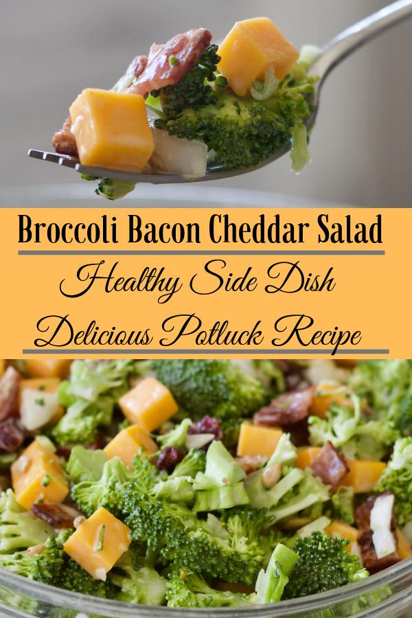 Bacon Cheddar Broccoli Salad is gluten free . A healthy ...