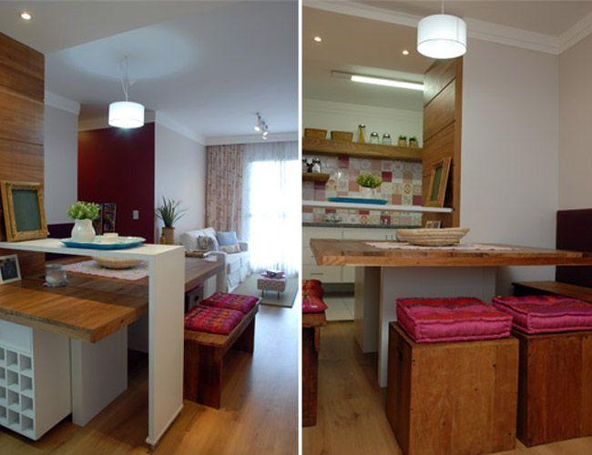 21 dicas para decorar apartamentos muito pequenos mesas for Apartamentos pequenos