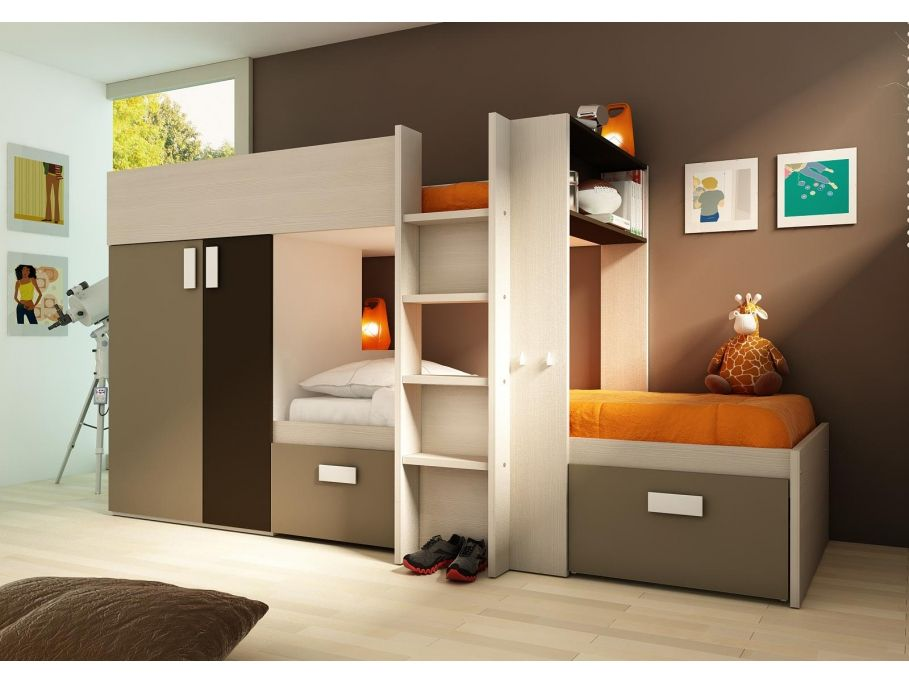 kinderbett hochbett etagenbett julien 2x90x190cm g nstig kaufen m bel onlineshop kauf. Black Bedroom Furniture Sets. Home Design Ideas