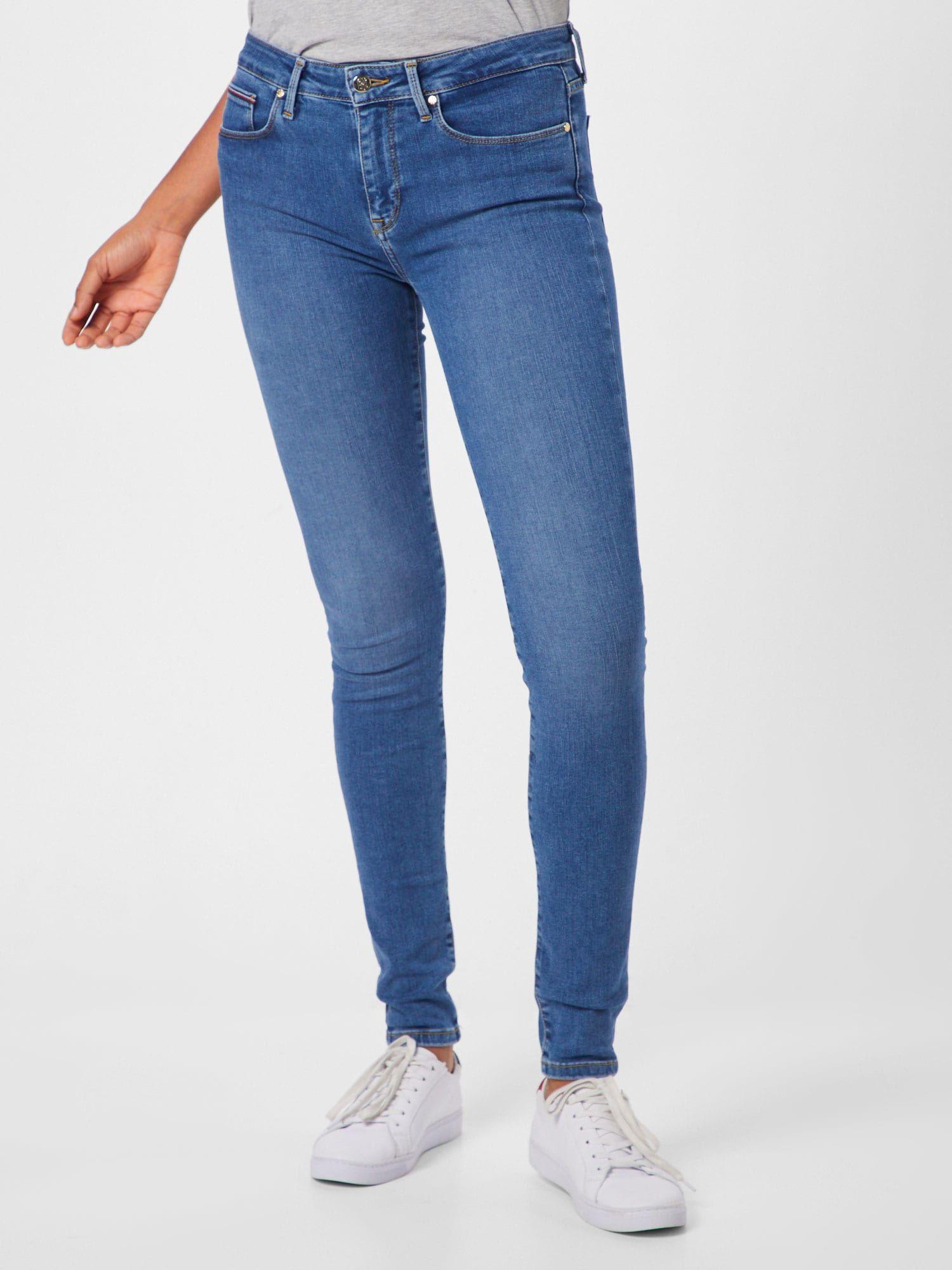 Tommy Hilfiger Jeans Como Skinny Rw Busa Damen Blue Denim
