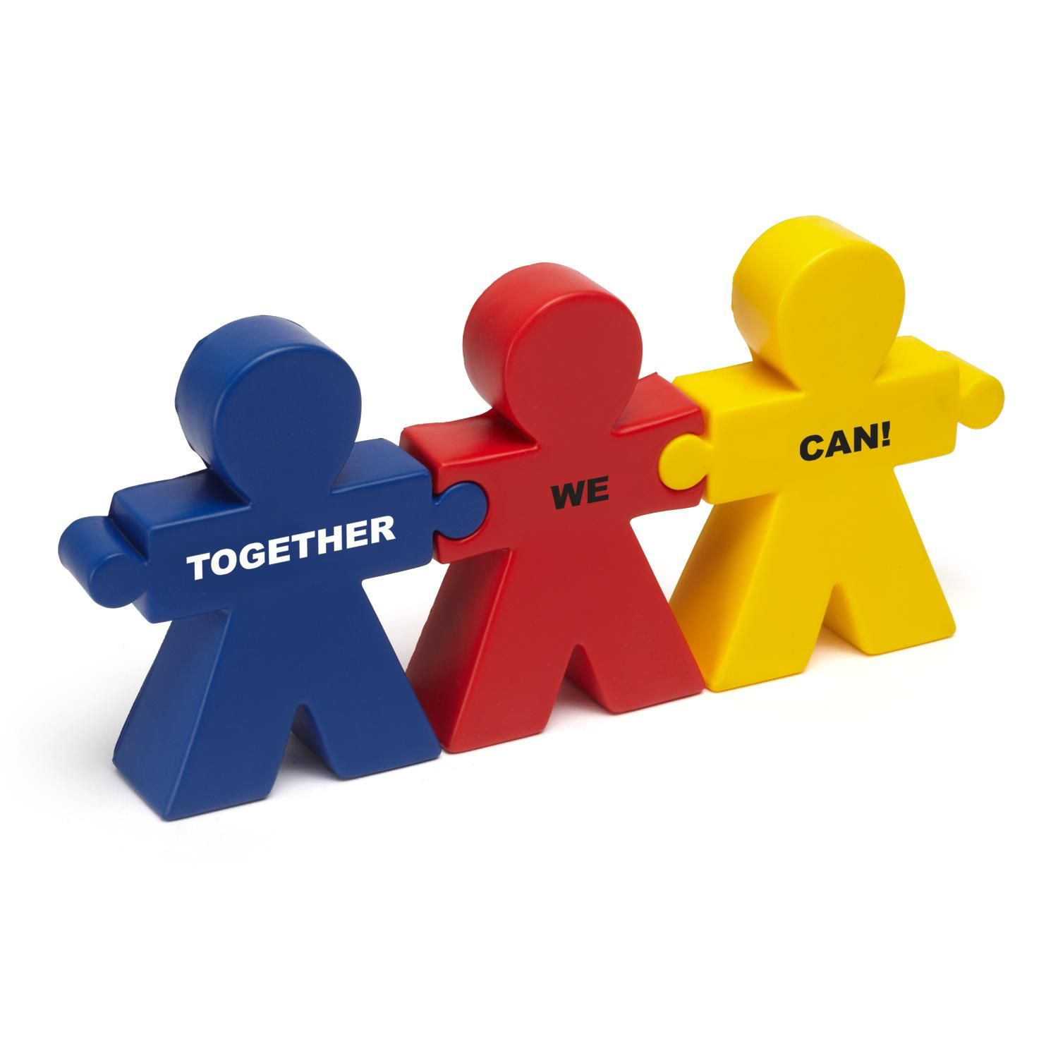 Teamwork Trio Stress Reliever. Promote teamwork and show your appreciation this Employee Appreciation Day with our Together We Can stress reliever. Add your company's logo to customize your gift.