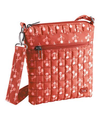 Look what I found on #zulily! Peach Coral Floral Skipper Crossbody Bag by Lug #zulilyfinds