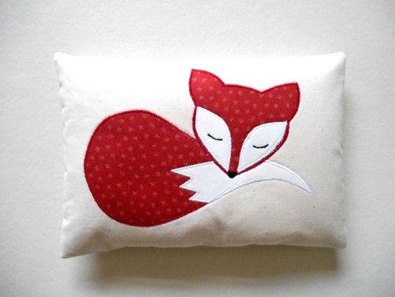 Handmade Fox Mini Pillow Fox Decoration By