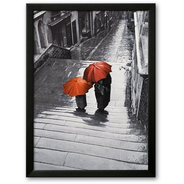 Art.com ''Bristol Rain, c.1954'' Framed Art Print by Joseph Mckeown... (220 AUD) ❤ liked on Polyvore featuring home, home decor, wall art, soho black, wooden wall art, wooden home decor, black wall art, british home decor and black home decor