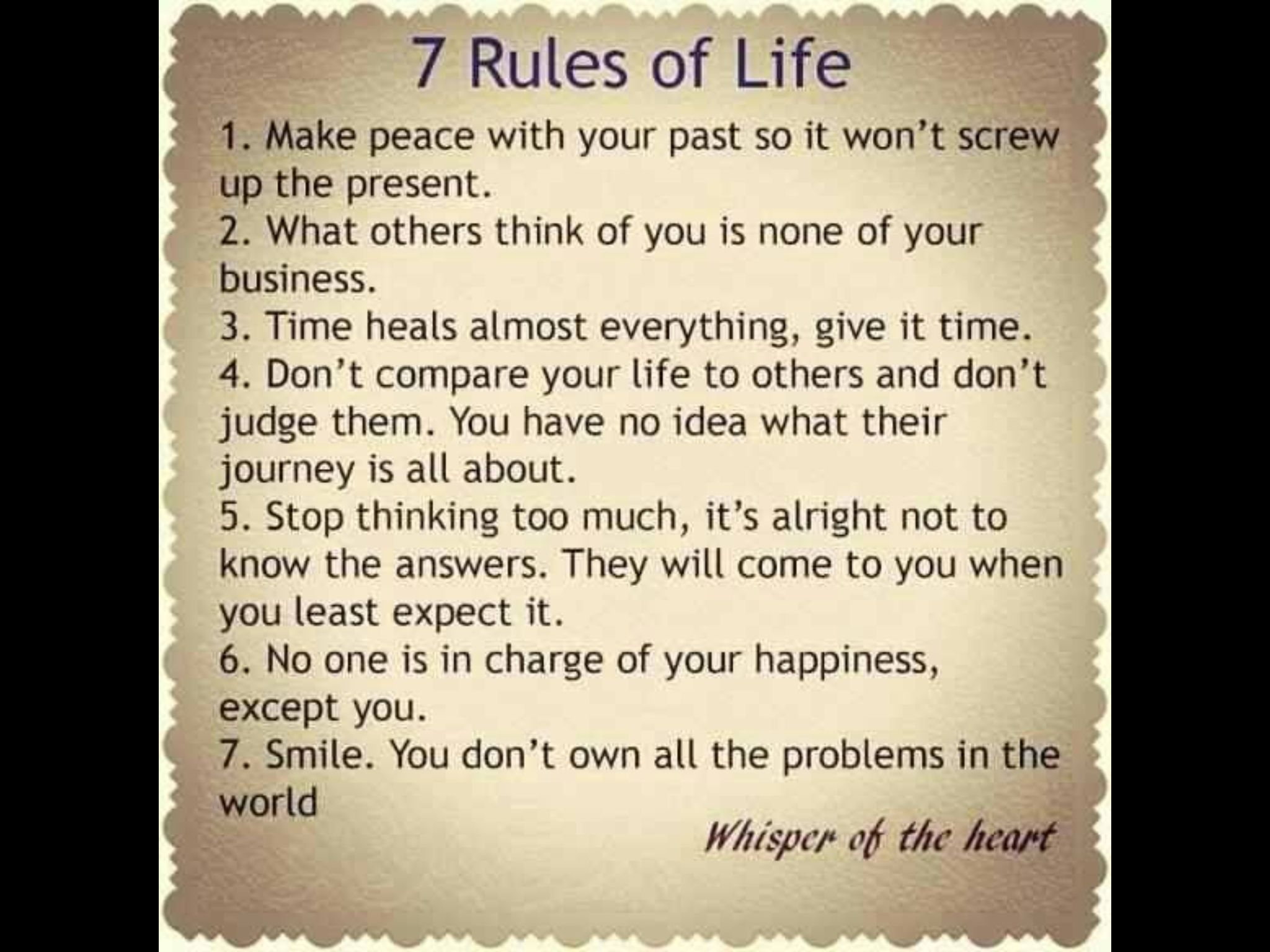 7 Rules Of Life Quote 7 Rules Of Life  Quotes  Pinterest