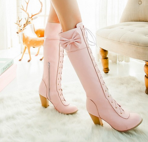 Boots Up Bowknot Shoe High In Lolita 2019Wishlist Lace jq5L34RA
