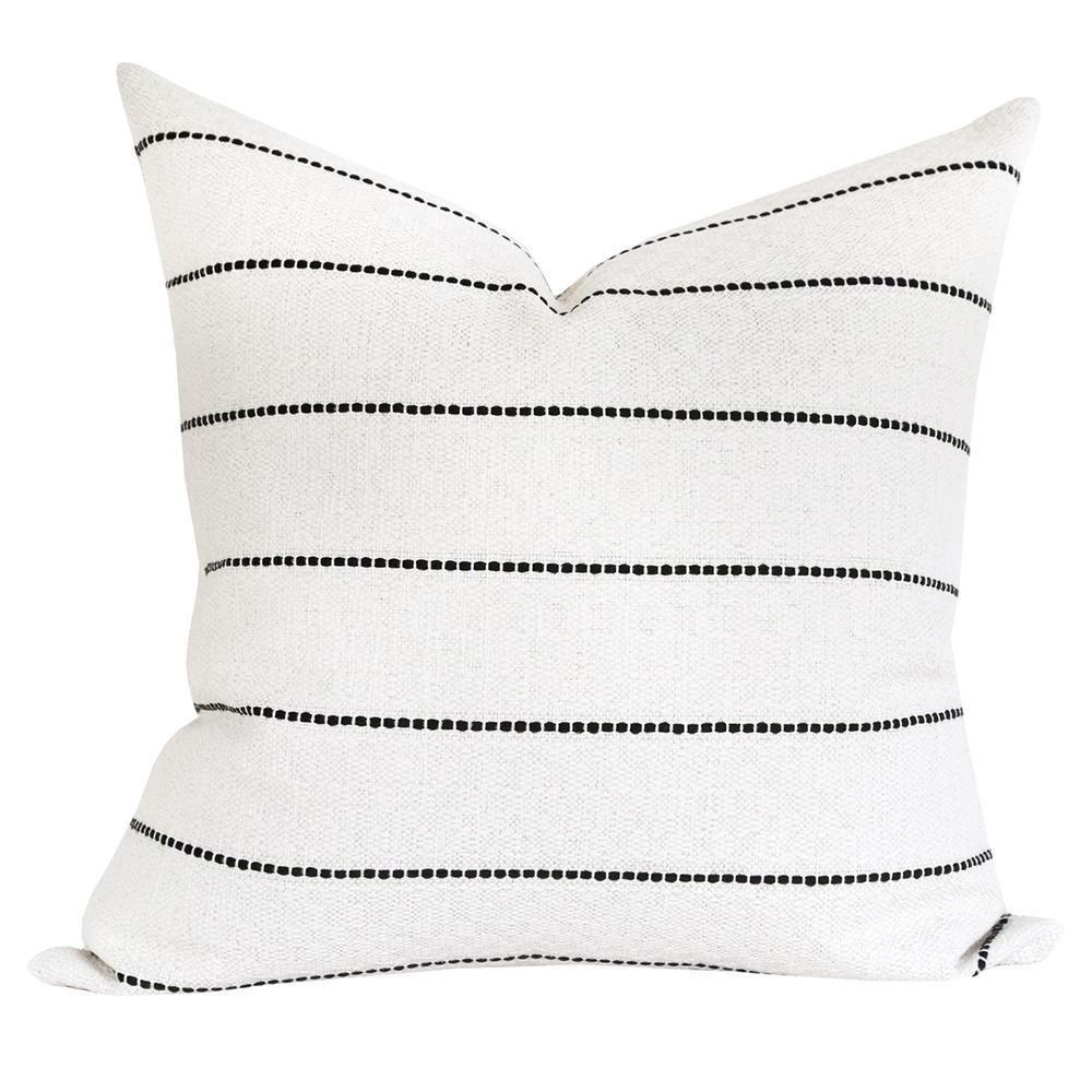 Toulouse 20x20 Pillow, Onyx | Cream