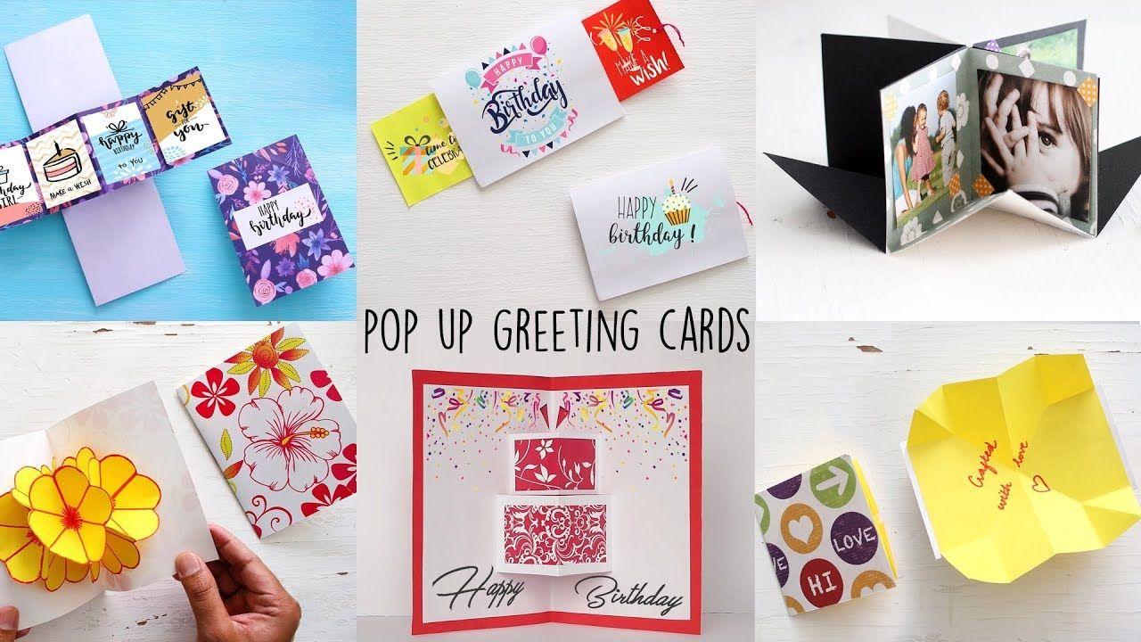 6 easy handmade greeting cards | pop-up cards | paper craft ideas