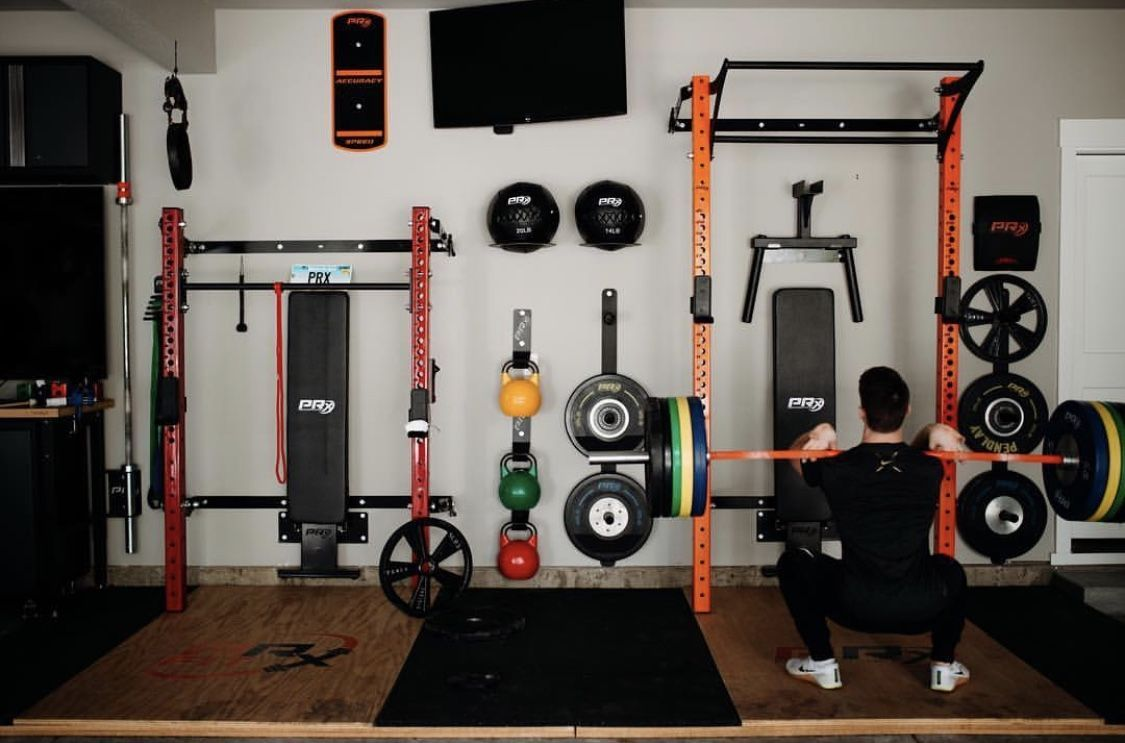 Red Or Orange Squat Rack Which One You Going With Gym Room At Home Dream Home Gym Gym Room
