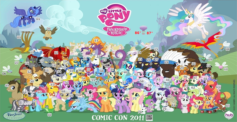 My Little Pony: Friendship Is Magic Season 1 Characters ...