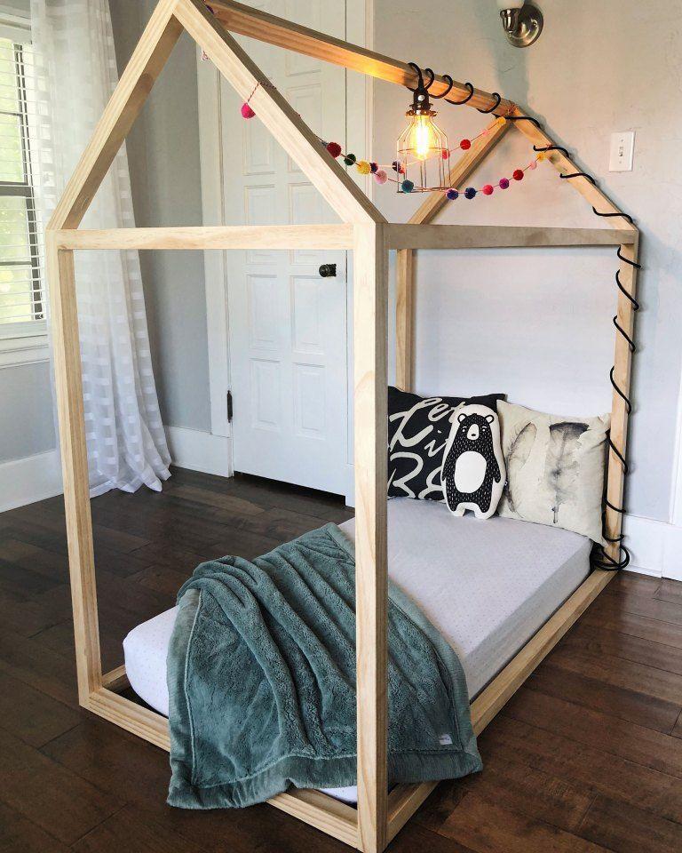 DIY Toddler House Bed images