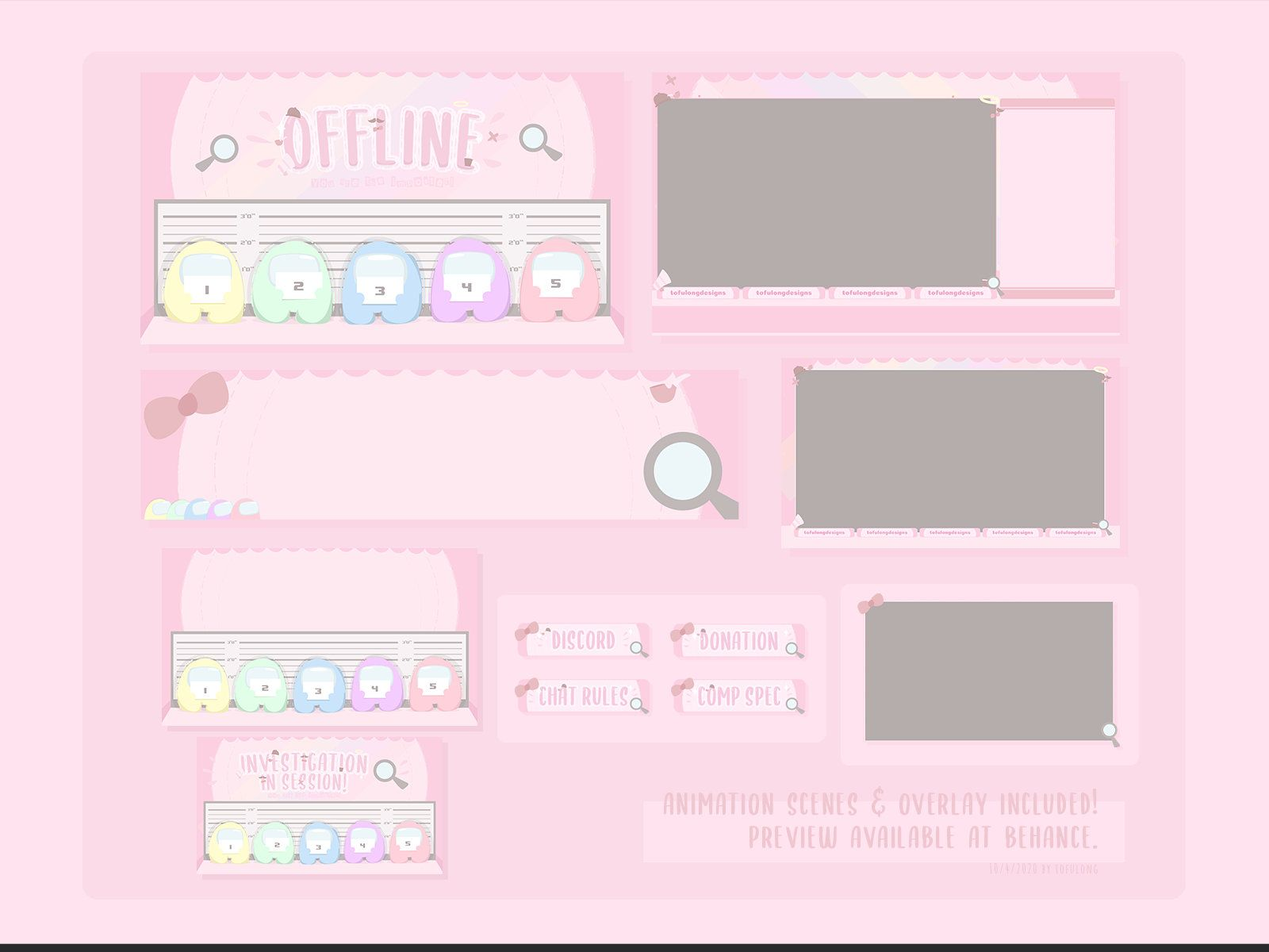 streaming Pastel Sakura Twitch Screen Overlay stream