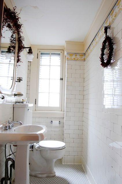 Subway Tile Traditional Bathroom